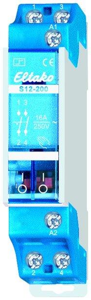 Eltako S12-200 230AC Stromstoßschalter 2 Schließer 21200030