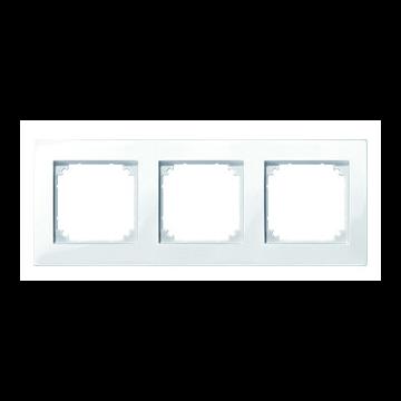 polarweiß glänzend 515319 3fach Merten M-PLAN-Rahmen