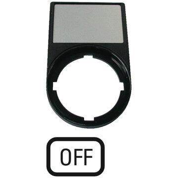 schwarz Schildträger Eaton 218300 M22S-ST-GB5 OFF 30 x 50 mm